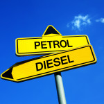 sign with diesel and petrol